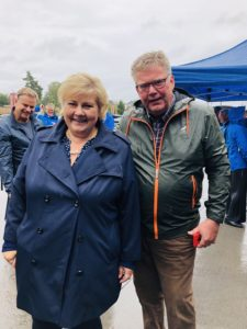 与挪威首相Erna Solberg